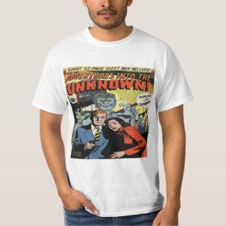 Aventuras en la cubierta cómica desconocida #25 camiseta