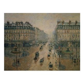 Avenue de L'Opera, París, 1898 Postal