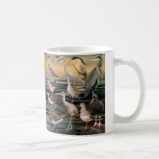 Aves costeras del oeste taza de café
