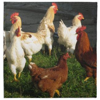 Aves de corral servilleta de tela