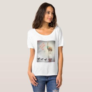 Avestruz inspirada del texto de la camiseta