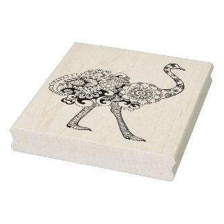 Avestruz inspirada sello de caucho