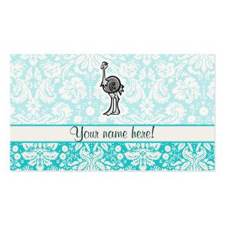 Avestruz linda del dibujo animado tarjetas de visita