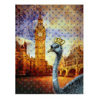 Avestruz real en Londres Postal