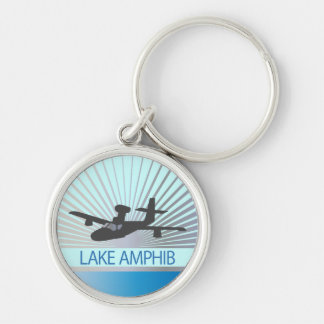 Aviación de Amphib del lago Llavero Redondo Plateado