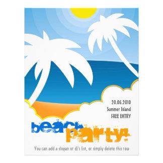 Aviador adaptable del fiesta de la playa tarjeta publicitaria