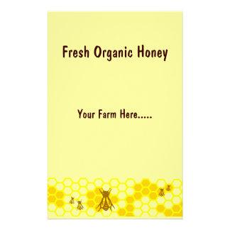 Aviador amarillo del personalizado de la miel de l folleto 14 x 21,6 cm