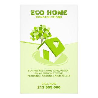 Aviador casero verde de las propiedades folleto 14 x 21,6 cm