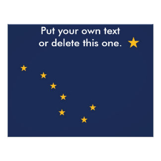 Aviador con la bandera de Alaska, los E.E.U.U. Folleto 21,6 X 28 Cm
