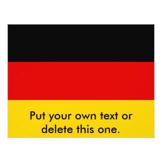 Aviador con la bandera de Alemania Tarjetones