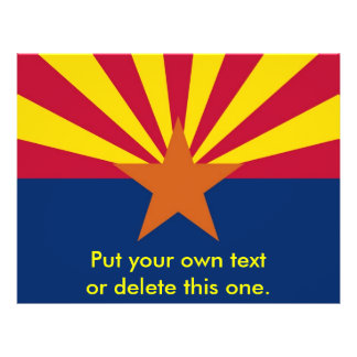 Aviador con la bandera de Arizona, los E.E.U.U. Folleto 21,6 X 28 Cm