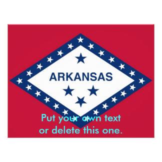 Aviador con la bandera de Arkansas, los E.E.U.U. Flyer Personalizado