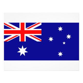 Aviador con la bandera de Australia Folleto 21,6 X 28 Cm