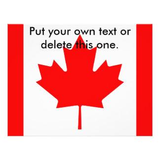 Aviador con la bandera de Canadá Flyer Personalizado