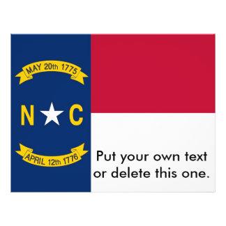 Aviador con la bandera de Carolina del Norte, los  Tarjetas Publicitarias