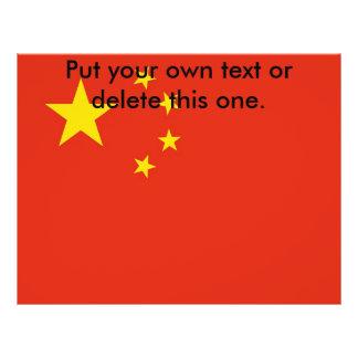 Aviador con la bandera de China Flyer Personalizado