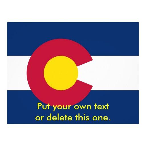 Aviador con la bandera de Colorado, los E.E.U.U. Tarjetas Publicitarias