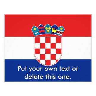 Aviador con la bandera de Croacia Flyer Personalizado