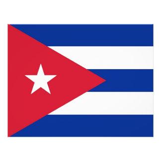 Aviador con la bandera de Cuba Folleto 21,6 X 28 Cm