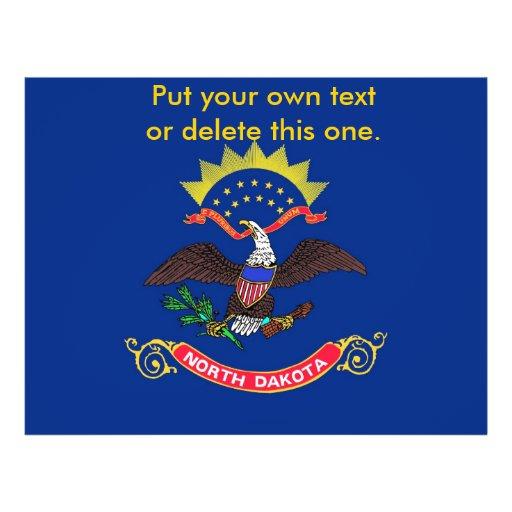 Aviador con la bandera de Dakota del Norte, los E. Flyer A Todo Color