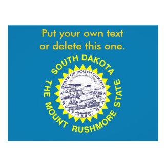Aviador con la bandera de Dakota del Sur, los E.E. Folleto 21,6 X 28 Cm