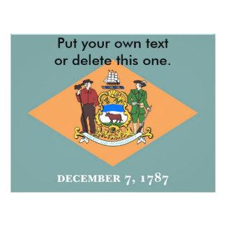 Aviador con la bandera de Delaware, los E.E.U.U. Flyer A Todo Color