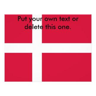 Aviador con la bandera de Dinamarca Tarjeta Publicitaria