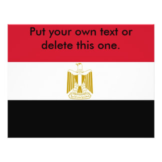 Aviador con la bandera de Egipto Flyer Personalizado