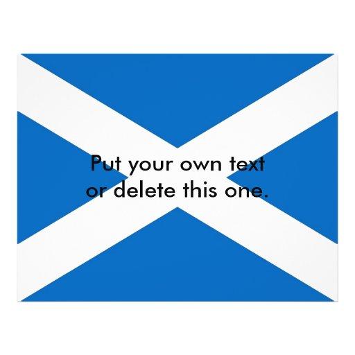 Aviador con la bandera de Escocia Tarjetón