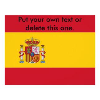 Aviador con la bandera de España Folleto 21,6 X 28 Cm