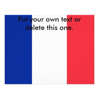 Aviador con la bandera de Francia Flyer A Todo Color