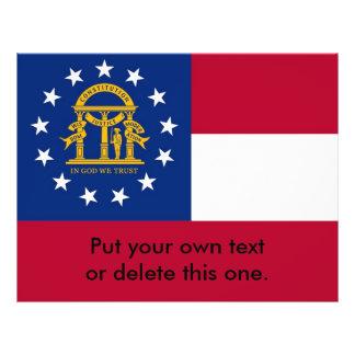 Aviador con la bandera de Georgia, los E.E.U.U. Folleto 21,6 X 28 Cm