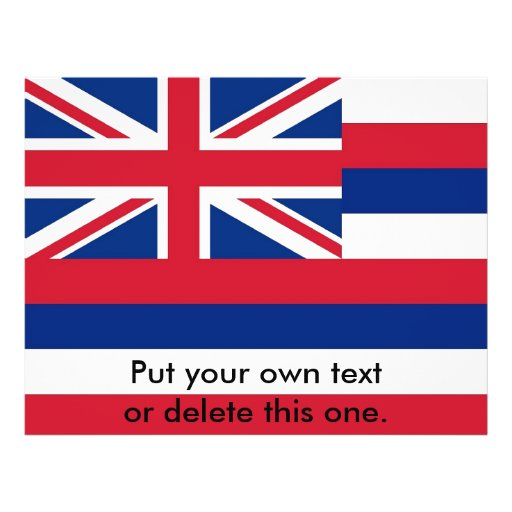 Aviador con la bandera de Hawaii, los E.E.U.U. Tarjetón