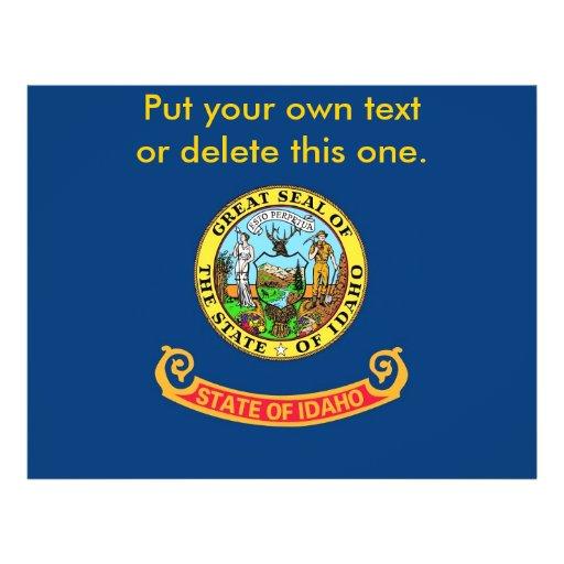 Aviador con la bandera de Idaho, los E.E.U.U. Flyer Personalizado