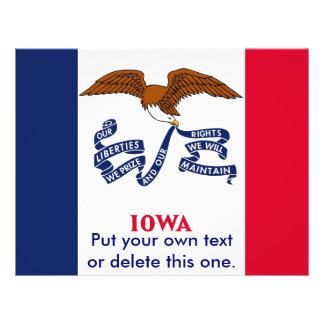 Aviador con la bandera de Iowa, los E.E.U.U. Folleto 21,6 X 28 Cm