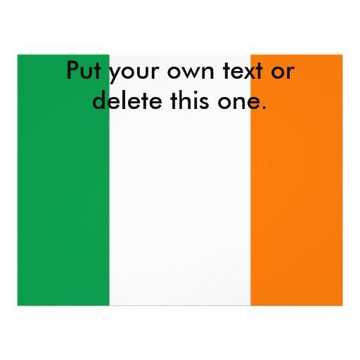Aviador con la bandera de Irlanda Tarjetas Publicitarias