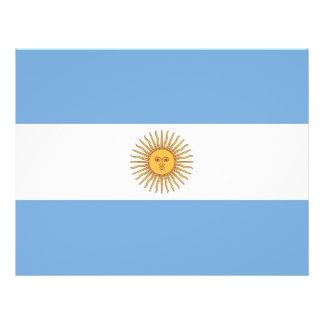 Aviador con la bandera de la Argentina Folleto 21,6 X 28 Cm