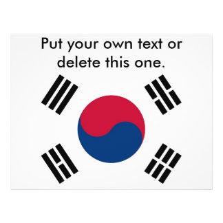Aviador con la bandera de la Corea del Sur Tarjeta Publicitaria