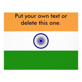 Aviador con la bandera de la India Folleto 21,6 X 28 Cm