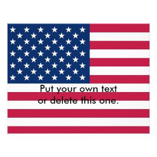 Aviador con la bandera de los Estados Unidos de Am Folleto 21,6 X 28 Cm