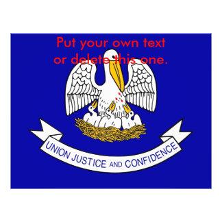 Aviador con la bandera de Luisiana, los E.E.U.U. Folleto 21,6 X 28 Cm