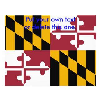 Aviador con la bandera de Maryland, los E.E.U.U. Folleto 21,6 X 28 Cm