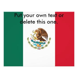 Aviador con la bandera de México Tarjetas Publicitarias