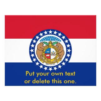 Aviador con la bandera de Missouri, los E.E.U.U. Flyer Personalizado