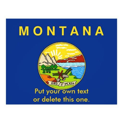 Aviador con la bandera de Montana, los E.E.U.U. Tarjetas Informativas