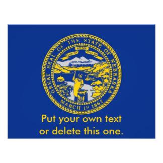Aviador con la bandera de Nebraska, los E.E.U.U. Tarjetas Informativas