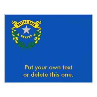 Aviador con la bandera de Nevada, los E.E.U.U. Folleto 21,6 X 28 Cm