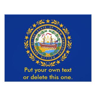 Aviador con la bandera de New Hampshire, los E.E.U Tarjetones