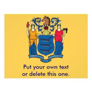 Aviador con la bandera de New Jersey, los E.E.U.U. Flyer Personalizado