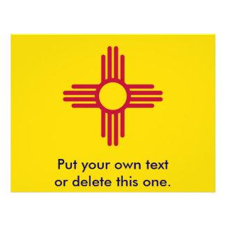 Aviador con la bandera de New México, los E.E.U.U. Folleto 21,6 X 28 Cm